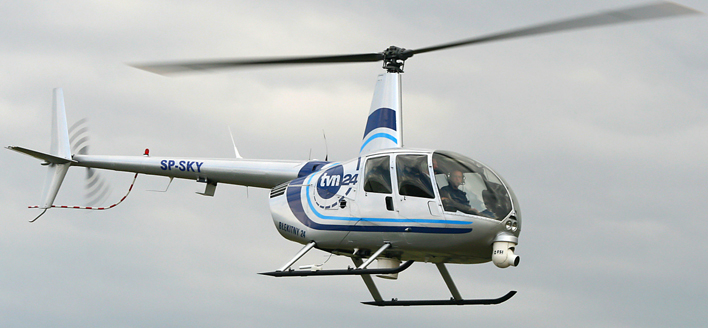 Robinson News helicopter