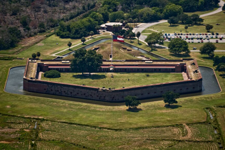 Fort Pulaski Tour offered by Southeast Helicopter